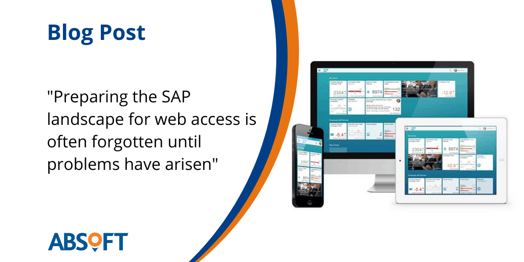 Infrastructure for web and mobile access to SAP