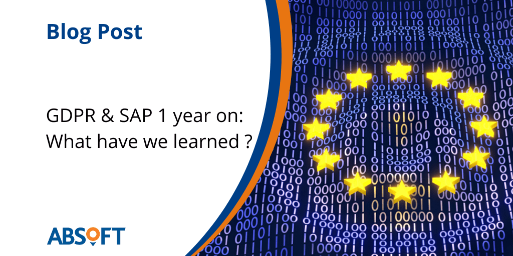SAP GDPR Changes One Year On