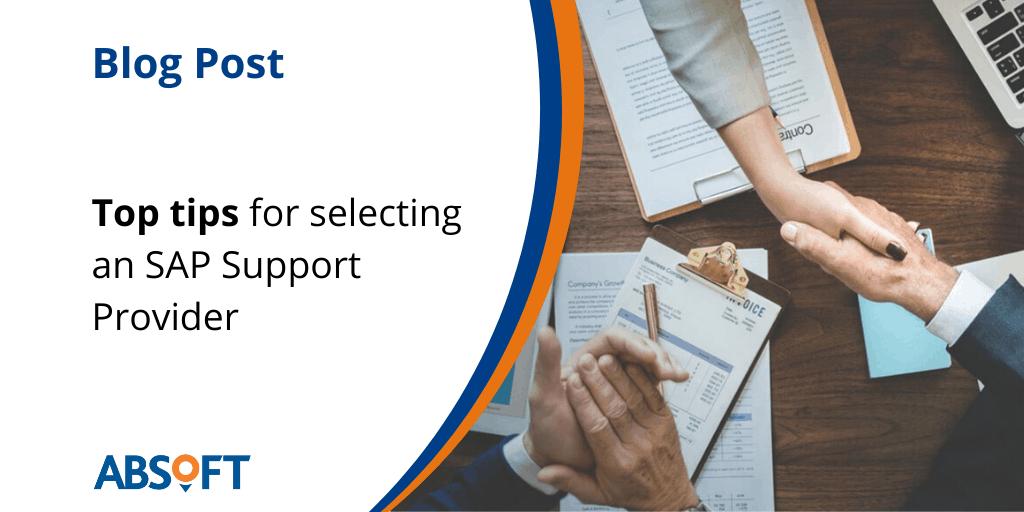 Changing SAP Support Partner