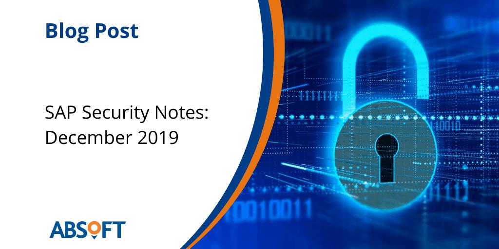 SAP Security Notes Review: December 2019