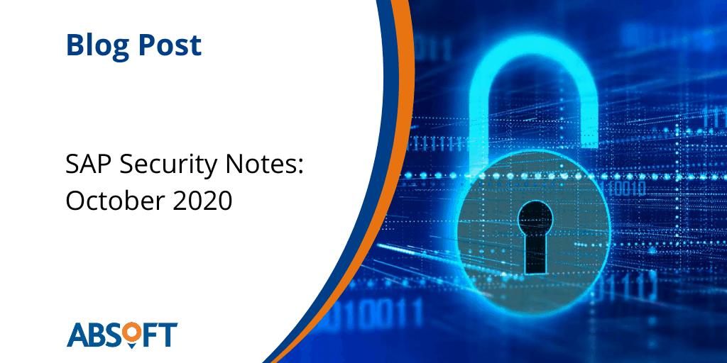 SAP Security Notes October 2020