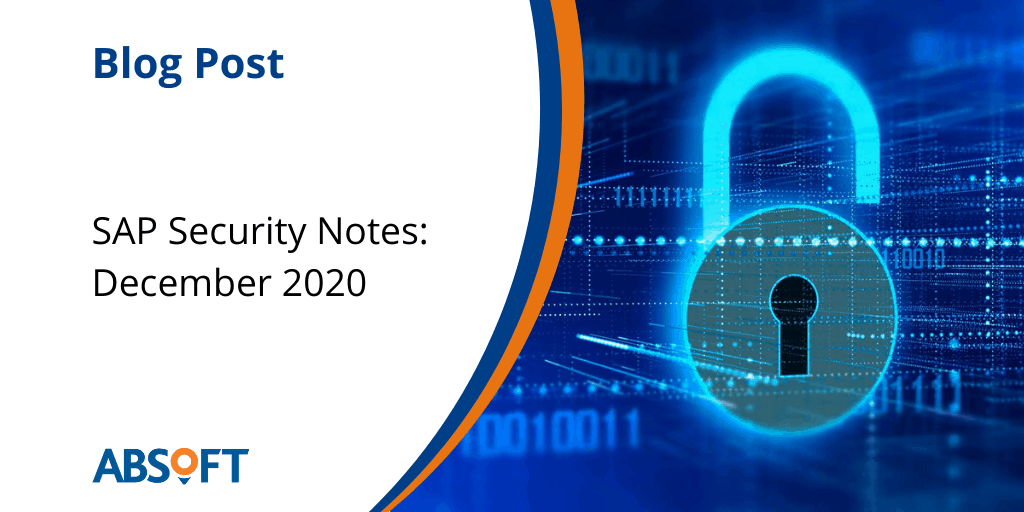 SAP Security Notes Dec 2020