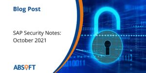 SAP Security Notes October 2021